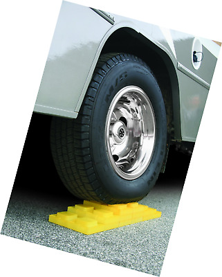 Camper Wheel Chocks >> Rv Leveling Blocks Wheel Chocks Camper Trailer Durable Strong Pack Of 4 Yellow