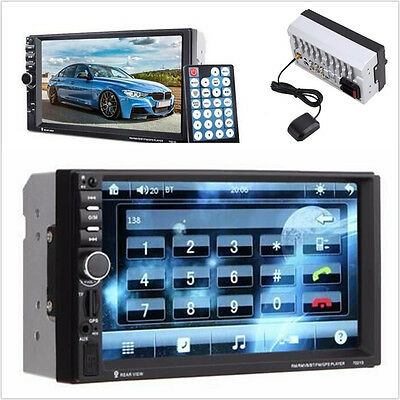7''Touch Screen Double 2 Din Bluetooth Car GPS Stereo Radio MP5 USB/FM Player