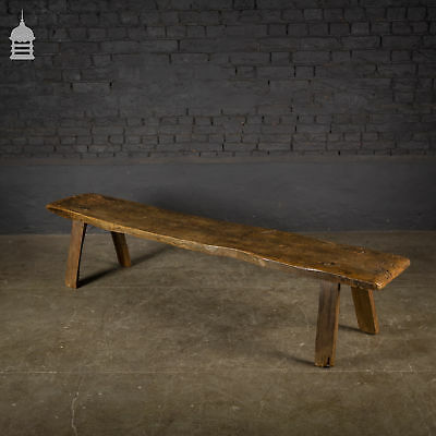 18th Century Elm Pig Bench with Pine Legs