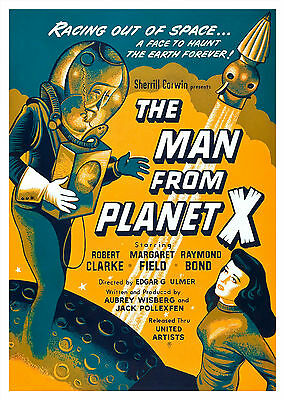 The Man From Planet X (1951) - A2 A3 A4 POSTER ***RETOUCHED AND RESTORED***