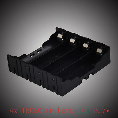 1pc 4x18650 in Parallel 3.7V Pole Battery Box Holder Batteries Case Box