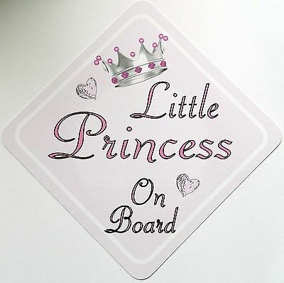 Handmade Little Princess Baby on Board Car Sign ~ Pink