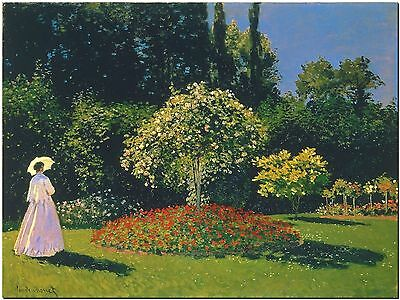 Jeanne Marguerite lecadre in the Garden Canvas Print Poster 12X16""