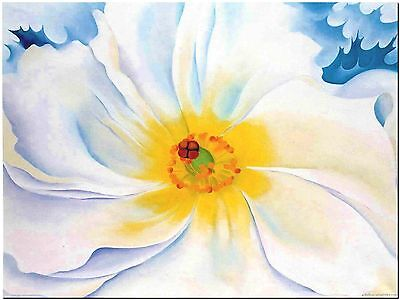 White Flower by Georgia O'keefe Canvas Print Poster 18X24""