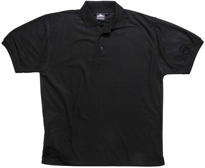 888 Black Naples Polo Shirt Large B210BKRL Portwest New