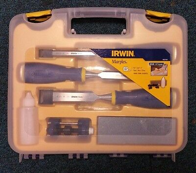 Irwin Marples Chisels 6pc 13mm-25mm IR MAR MS500 + 3pc Case - BRAND NEW & SEALED