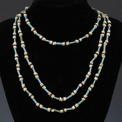 Egyptian Long Necklace of Amarna Beads