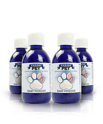 4 X 5L Eco-Refill Fresh Pet Super Concentrate - Kennel Disinfectant  Baby Powder