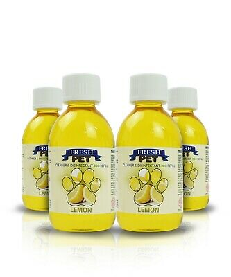 4 X 5L Eco-Refill Fresh Pet Super Concentrate - Kennel Disinfectant - Lemon
