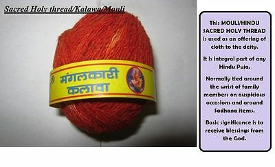 2Sacred Red Thread Mauli Kalawa hindu religious cotton wrist band Roll puja moli