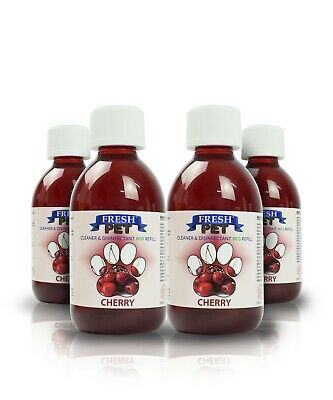 4 X 5L Eco-Refill Fresh Pet Super Concentrate - Kennel Disinfectant - Cherry