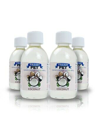 4 X 5L Eco-Refill Fresh Pet Super Concentrate - Kennel Disinfectant - Coconut