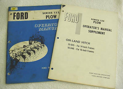 Ford 132 Series Plow Tractor Operator Manual