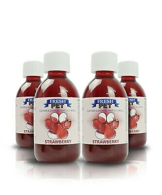 Fresh Pet Disinfectant Cleaner Eco-Refill Concentrate Makes 4X5L  Strawberry