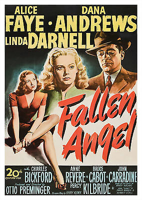 Fallen Angel (1945) - A2 A3 A4 POSTER ***RETOUCHED AND RESTORED***