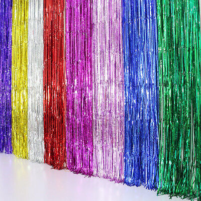 2m*1m Metallic Fringe Curtain Party Foil Tinsel Room Door Wholesale Wedding Home