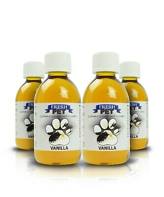 Fresh Pet Disinfectant Cleaner Eco-Refill Concentrate Makes 4X5L  Vanilla