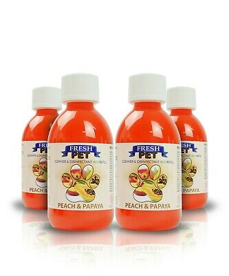 4 X 5L Eco-Refill Fresh Pet Super Concentrate - Kennel Disinfectant - Peach