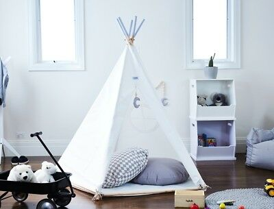New Hip Kids Grey White Kids Play House Indoor Tent Teepees Tipi Fort