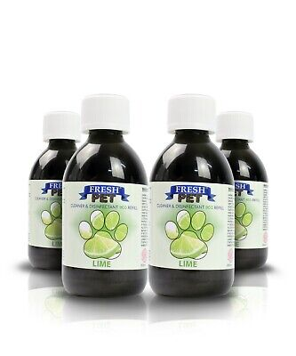 4 X 5L Eco-Refill Fresh Pet Super Concentrate - Kennel Disinfectant - Lime