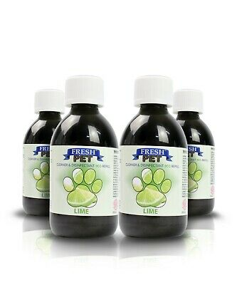 Fresh Pet Disinfectant Cleaner Eco-Refill Concentrate Makes 4X5L  Lime