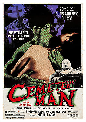 Cemetery Man (1994) - A2 A3 A4 POSTER ***RETOUCHED AND RESTORED***
