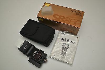 Nikon Speedlight SB-800 Shoe Mount Flash in box with complete acc. EX