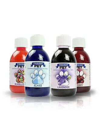 Fresh Pet Disinfectant Cleaner Eco-Refill Concentrate Makes 4X5L Mix Any 4