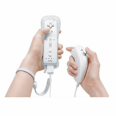 New Wii White Remote Controller And Nunchuck For Nintendo Wii