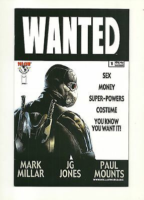 WANTED #1-#6 complete set + Wizard #1 variant w/ COA MARK MILLAR, 9.4 NM Image