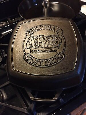 Original Cracker Barrel Old Country Store Cast-Iron Frypan Grill