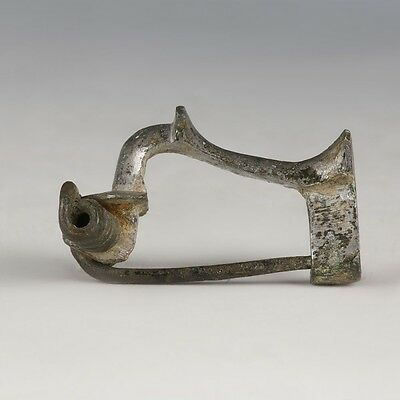 Silvered-Bronze Knee Brooch