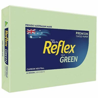 Bulk Buy - 5 x Reflex Colours 80gsm A4 Copy Paper Green 500 Sheets