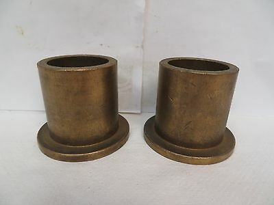 "(2) New No Name Flanged Brass Bronze Bushing 1-3/4"" Id 2-1/4"" Od 2-1/2"" Width"