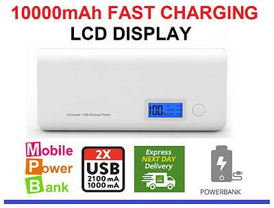 Power Bank USB External Battery Charger LCD For Mobile Phone Iphone Samsung THC