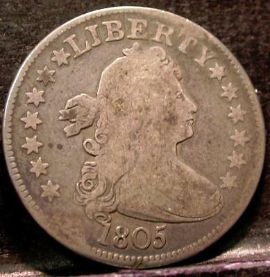 1805 Draped Bust  Early Quarter Id#k84