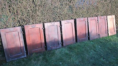 Pitch pine rustic church pew doors x4, Victorian, antique ,kitchen cabinet doors