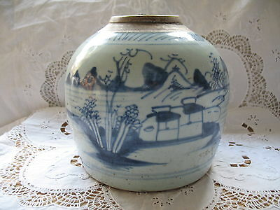 Late Ming Early Quing Chinese Stoneware Ginger Jar