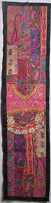homedecor Vintage Throw Patchwork Wall Hanging Embroidery Tapestry Table Runner