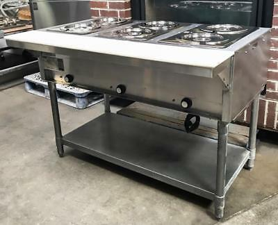 Eagle Dht3-120 Open Base Three Pan Open Well Electric Hot Food Steam Table