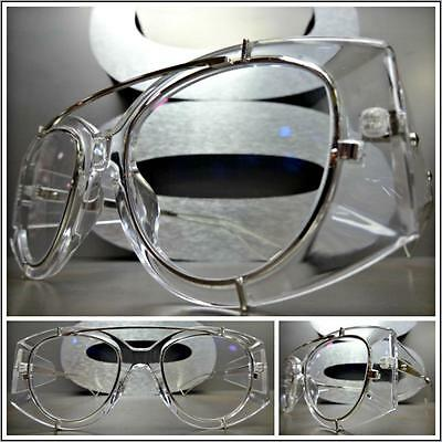 Men's Women VINTAGE RETRO Style Clear Lens EYE GLASSES Transparent Fashion Frame