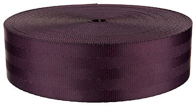 2 Inch Plum Seat-belt Polyester Webbing Closeout, 10 Yards