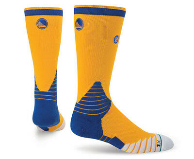 Stance Men's US Size 9-12 Golden State Warriors Basketball Crew Sock - Yellow/Mu