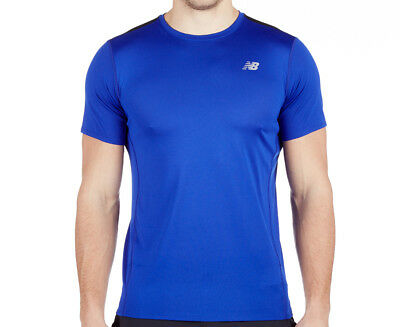 New Balance Men's Accelerate Short Sleeve - Blue/Black