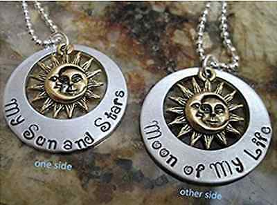 New Sun&Moon Pendant Necklace Song of Ice and Fire Game of Thrones Khal Khaleesi