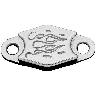 ModQuad Parking Brake Block-Off Plate | Aluminum Flames | PB-F