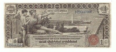 1896 $1 Silver Certificate Educational Large Horse Blanket Currency Note! USC127