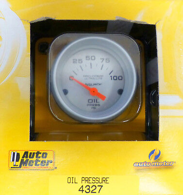 Auto Meter 4327 Ultra Lite Pro Comp Oil Pressure Gauge Electric 0-100 PSI 2 1/16
