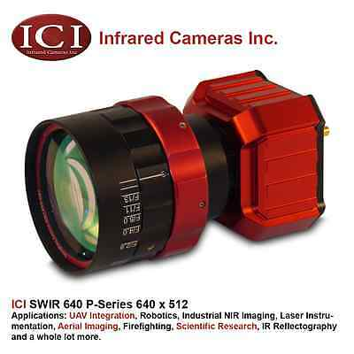 ICI FLIR 640 x 512 SWIR NIR InGaAs Infrared Camera (lens not included)