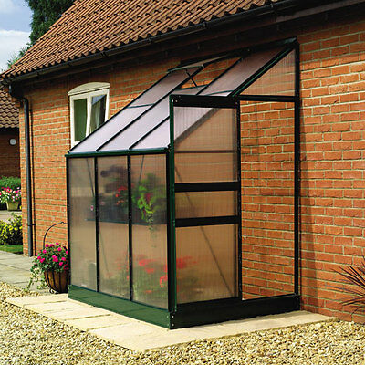 4' x 6' Aluminum Lean-To Greenhouse including Steel Base - Free Shipping